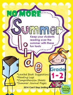 Summer Reading packet to STOP Summer Slide  For students currently in grades 1 and 2-includes leveled book lists, reading response sheets, reading logs and more!! $4.50