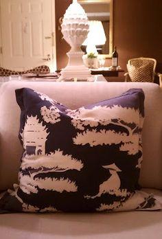 Chinoiserie inspired pillow