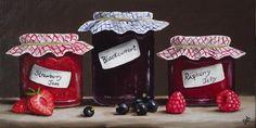 """""""Home made Jam  and  Jelly"""" - Original Fine Art for Sale - © Jane Palmer"""