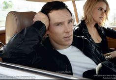 Benedict Cumberbatch and Alice Eve. 2012 03 16 - ' GQ Style ' Photoshoot by Tertius Bune — Ignore Alice Eve.  The real beauty is on the left. ;-)