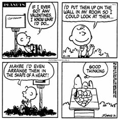 First Appearance: February 14th, 1977 #peanutssp#ps #pnts #peanuts #schulz #snoopy #charliebrown #valentines #wall #room #arrange #shape #heart #goodthinking www.peanutsspecials.com Snoopy Valentine, Saint Valentine, Love Valentines, Lucy Charlie Brown, Charlie Brown And Snoopy, Snoopy Comics, Fun Comics, Peanuts Comics, Snoopy Love
