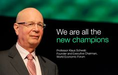 Klaus Schwab at the World Economic Forum Annual Meeting of the New Champions 2014.