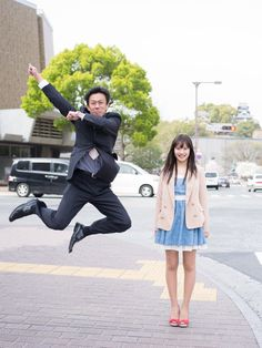 Jumping Japanese businessmen show their daughters how to defy stereotypes - Love the concept, and the fathers who try so hard to impress