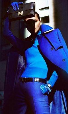 Electric blue from head to toe!!! Brilliant!!! www.missKrizia.com