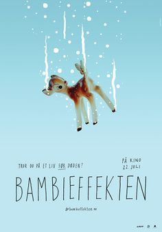 Bambi Effect, The (Bambieffekten) Foreign Movies, Visual Communication, Norway, Illustrators, Scandinavian, Poster Prints, Cinema, Typography, Graphic Design