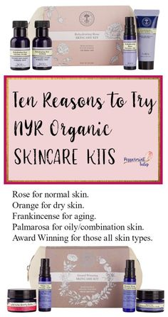 These NYR Organic Skincare Kits come with four items each, plus a canvas bag. The perfect way to sample some favorite nontoxic skincare products! Homemade Beauty Tips, Homemade Skin Care, Facial Skin Care, Anti Aging Skin Care, Organic Skin Care, Natural Skin Care, Organic Beauty, Neals Yard Remedies, Skin Care Tips