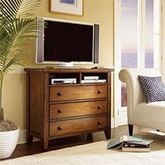 TV Stand; like the open at the top and the legs at the bottom