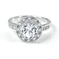Lab-Created White Sapphire Ring in Sterling Silver  by @Helzberg Diamonds #helzberg #jewelry #rings #aislestyle