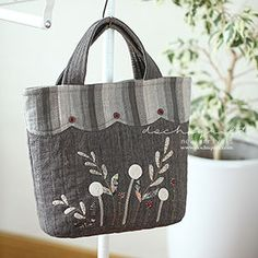 Beautiful Bags, Purses And Bags, Diy And Crafts, Reusable Tote Bags, Jeans, Quilts, Wallet, Japanese Style, Sewing