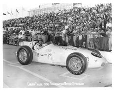 1960 Indianapolis 500 Driver Chuck Hulse. He owned either a Goodyear or Firestone Tire store in my town when I was a kid. Trying to get some more details on that for you. In this photo Chuck is running Firestone tires.