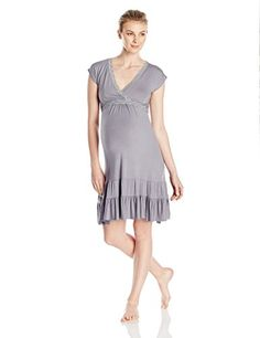 f2469fc2e9858 Belabumbum Women's maternity Belabumbum Mtn and Nrs Ruffle Dress, black, S. Maternity  SleepwearMaternity WearMaternity DressesAfter ...