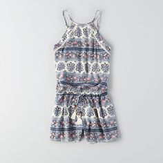 Calm before the warm. Transition your look. Shop the AEO Tassel Hi-Neck Romper from American Eagle Outfitters. Check out the entire American Eagle Outfitters website to find the best items to pair with the AEO Tassel Hi-Neck Romper . Cute Summer Outfits, Spring Outfits, Cool Outfits, Casual Outfits, Fashion Outfits, Fashion Pics, Cute Rompers, Tween Rompers, Playsuit Romper