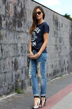 baseball t-shirt | Lady Addict en stylelovely.com
