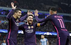 MSN Messi Suarez Neymar Barcelona vs City