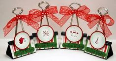 Image result for christmas name card holders