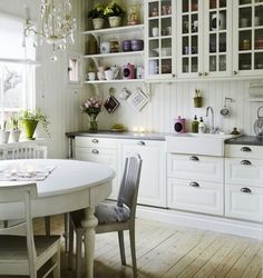 White-Round-Table-for-Vintage-Kitchen-Ideas-with-Simple-Kitchen-Layout.jpg (965×1024)