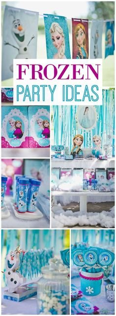 So many pretty details at this Frozen birthday party! See more party ideas at… Elsa Birthday Party, Frozen Themed Birthday Party, Frozen Birthday Party, 4th Birthday Parties, Frozen Party, Cumple De Frozen Ideas, Fete Marie, Anna Und Elsa, Frozen Decorations