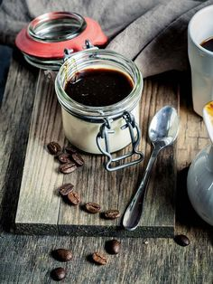 Panna cotta con sirope de café #pannacotta #cocinaitaliana #cocinainternacional #postres