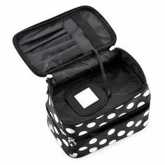 Damen Punkt Kasten Makeup Kosmetik Tasche Handtasche Werkzeug Box Kultur Schwarz: Amazon.de: Schuhe & Handtaschen