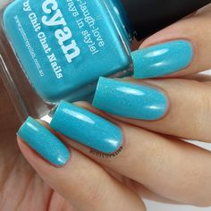 Brit Nails: piCture pOlish 2014 Collaborations - Cyan, LakoDom and Minty Swatches and Review, plus Gloss on Top!