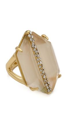 Alexis bittar Mirrored Citrine Ring