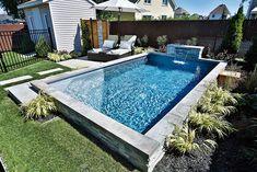 Backyard Pool Landscaping, Small Backyard Pools, Small Pools, Patio Deck Designs, Backyard Pool Designs, Pool Colors, Small Pool Design, Outside Patio, Dream Pools