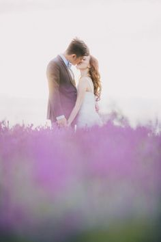 .portraits: bride and groom in the lavender fields of mayfield, england Image by Sofia Plana http://www.rockmywedding.co.uk/in-lavender-fields/#rmw-1/14/sofia-plana-photography-over-seas-pre-wedding-9998.jpg