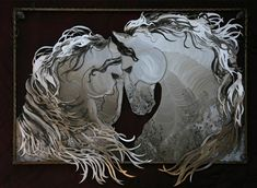 Equestrian Romance steel sculpture by Lindsey Martinson