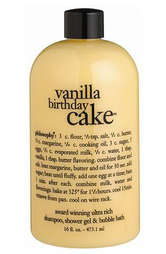 philosophy 'vanilla birthday cake' shampoo, shower gel & bubble bath available at #Nordstrom