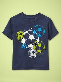 soccer t- graphic prints can be preppy.