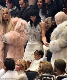 Off the runway: But in a surprise move, Kylie Jenner didn't model in this year's show, which was live streamed on Tidal