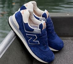 New Balance 574 – Navy / White – Grey