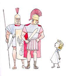 rzymianie chłopiec ilustracja dla dzieci
