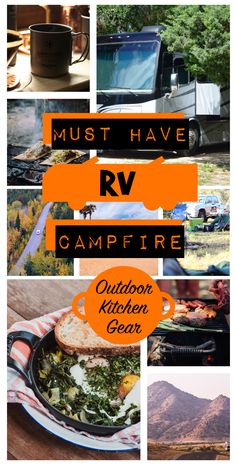 Must Have #RV Campfire Outdoor Kitchen Gear! - Use our essential list to hit the road and enjoy the meal with ease! #RVing