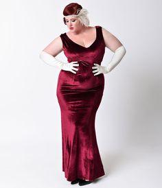 Red cocktail dresses plus size velvet