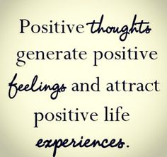Positive thoughts