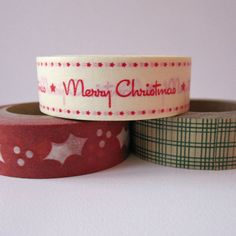Christmas Holiday Washi Tape Set (BumpOfKnowledge @ Etsy, $7)