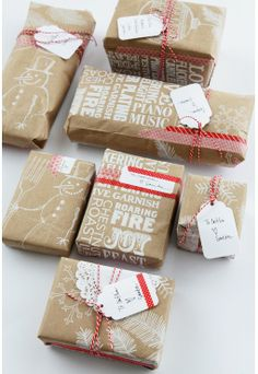 15 Creative Ways to Wrap with Brown Paper Gift Wrapping Guide | Apartment Therapy