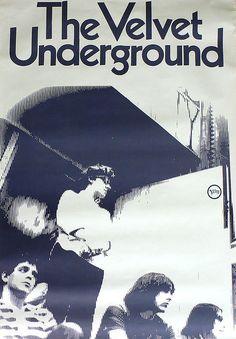 """Velvet Underground """"White Light/White Heat"""" Record Store Promo Poster (1968)…"""