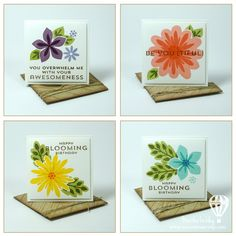 Stampin up Flower Patch Card Set