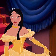 Mulan in Belle's dress