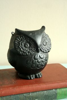O I want this little guy! Cast Iron Owl Planter $18 at PeppersPlaceDesigns on Etsy