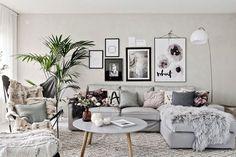 {home decor design apartment My Living Room, Living Room Interior, Home Decor Bedroom, Living Room Decor, Small Room Decor, Small Room Design, Smart Home Design, Grey Interior Design, Living Room Inspiration