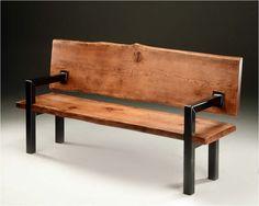 Resultado de imagem para wood and metal chairs