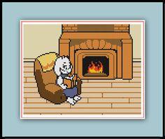 Toriel's Reading Chair Cross Stitch Pattern by SpriteStitches