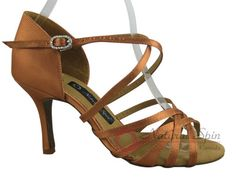 Natural Spin Signature Latin Shoes(Open Toe):  H1138-02_DrTanS