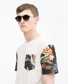 Imagem 4 de T-SHIRT ESTAMPADA da Zara