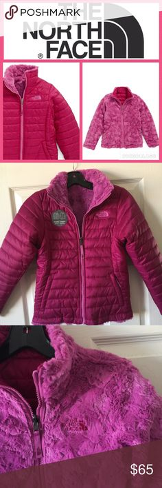 💕KIDS! North Face Mossbud Swirl Reversible Jacket The Mossbud Swirl Reversible Jacket by North Face is a must have to keep your little one warm this winter! Water resistant taffeta jacket that reverses to soft fleece with 100g Heatseeker insulation.  Front zip closure with chin guard, hand warmer pockets. Machine washable. Color is Roxbury pink.  Size M fits girls 10-12. Brand new/no tags but sticker still on front.  🚫no trades, low offers will not be accepted. North Face Jackets & Coats…