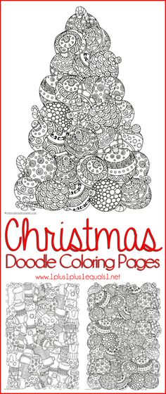 Free Christmas coloring pages for kids and adults - Joyeuxx Noel 2020 Christmas Doodles, Noel Christmas, Christmas Crafts For Kids, Christmas Printables, Christmas Colors, Holiday Crafts, Christmas Activities For Adults, Christmas Games, Doodle Coloring