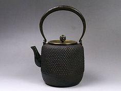 Antique Japanese iron tea kettle